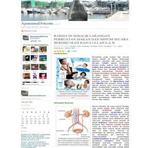 Susunatur website ApanamaDotcom terdahulu sejak dilancarkan