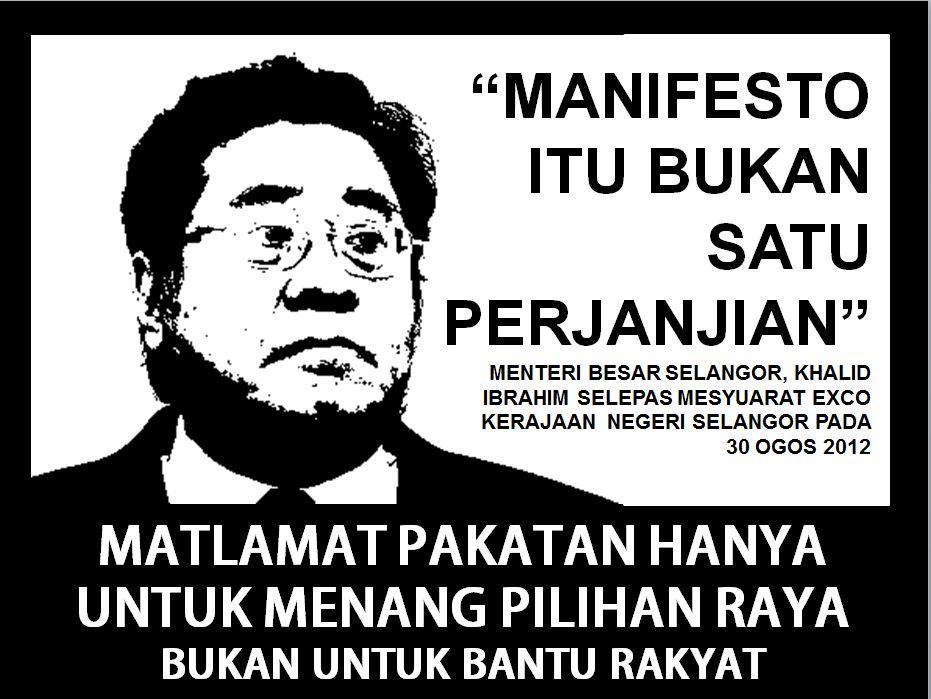 Image result for manifesto bukan janji