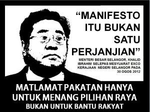 Manifesto itu bukan satu perjanjian d