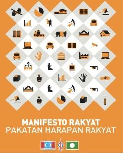 Empat teras utama Manifesto Rakyat ditawrkan kepada pengundi