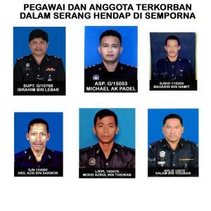 Wajah-wajah perwira yang kecundang di Lahad Datu demi agama, bangsa dan negara