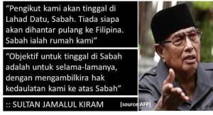 Sultan Jamalul Kiram merupakan sebahagian daripada boneka yang diperkuda oleh pembangkang