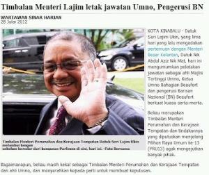 Perletakkan jawatan Lajim Ukin dari UMNO melompat ke PKR demi survival politiknya