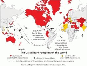 Kedudukan Malaysia di tengah-tengah perjalanan laluan perdangangan di antara timur dan barat telah menarik minat AS untuk mendirikan pengkalan tentera di Malaysia.