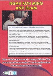 Mereka mencadangkan agar semua agama diberikan pengiktirafan tanpa mahu mengakui ISLAM adalah agama rasmi Malaysia