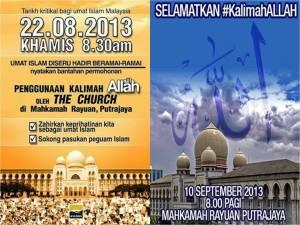 Dua peristiwa besar berkaitan kalimah ALLAH membuktikan kewujudan tangan-tangan ghaib yang cuba meruntuhkan Institusi Islam di Malaysia