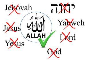 Pelbagai kata ganti nama yang sepatutnya digunapakai oleh golongan bukan Islam diabaikan. Sebaliknya kalimah ALLAH juga yang diidamkannya