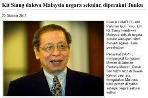 Apakah kita bersetuju dengan AGENDA yang mahu menjadikan Malaysia sebagai negara SEKULAR?