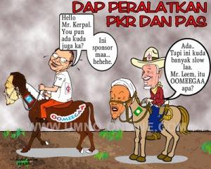 PKR dan PAS hanya kuda tunggangan DAP menuju ke Putrajaya. Tidak lebih sebagai Pencacai je