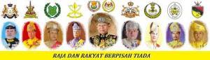 Raja Melayu yang menerajui 9 buah negeri menurut peruntukan Perlembangaan dan Undang-Undang Negeri