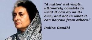 """Kejayaan terbesar yang dicapai oleh Indira Ghandi ialah menyatupadukan rakyatnya yang berbilang agama. Tekanan diberikan kepada umat Islam di atas nama """"Intergrasi Rakyat"""""""