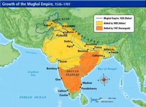 Kerajaan Islam Mughal kukuh bertapak di India bermula tahun 1526 - 1707. Selepas era kerajaan Araungzeb, empayar Islam mula ditakluki oleh Rajah Hindu