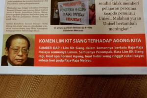 Beginilah sikap politikus yang bukan negarawan sejati. Mereka sanggup mempersenda dan menperkecilkan Raja-Raja Melayu tanpa rasa bersalah