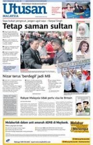 Inilah contoh kaduk naik junjung. Bila jawatan Menteri Besar terlepas dari gengaman, mereka sanggup menyaman Sultan tanpa rasa hormat