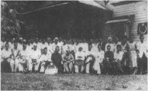 Kongres PAS yang pertama pada 1952 di Maahad Yahyaiyah di Padang Rengas dengan bersimbolkan bulan bintang.