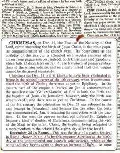 Istilah Krismas telah diterangkan di dalam Encyclopedia Britania dengan jelas.