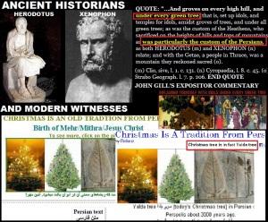 Pengaruh Parsi banyak diselitkan di dalam amalan dan kepercayaan penganut Kristian.